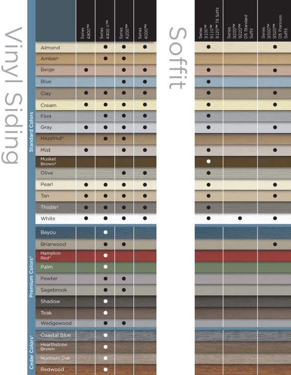 Certainteed Vinyl Siding Color Chart 2017 2018 Best